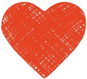 hjerte-orangeroed